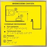 Тактильная мнемосхема монохром в рамке
