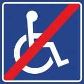 """Пиктограмма """"Доступность для инвалидов отсутствует"""""""
