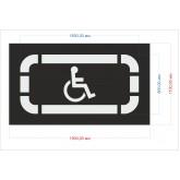 Трафарет Парковка для инвалидов